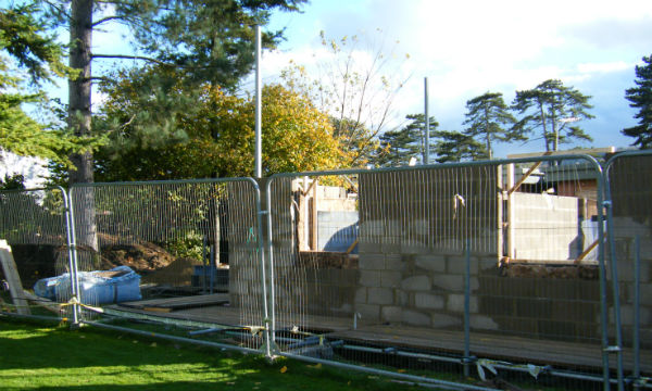 The extension is progressing - we now have some walls!